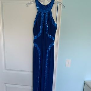 Royal blue long gown